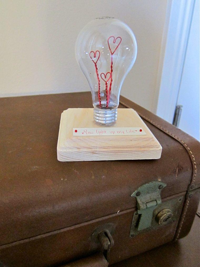 cadeau saint valentin original ampoule récupération diy idées
