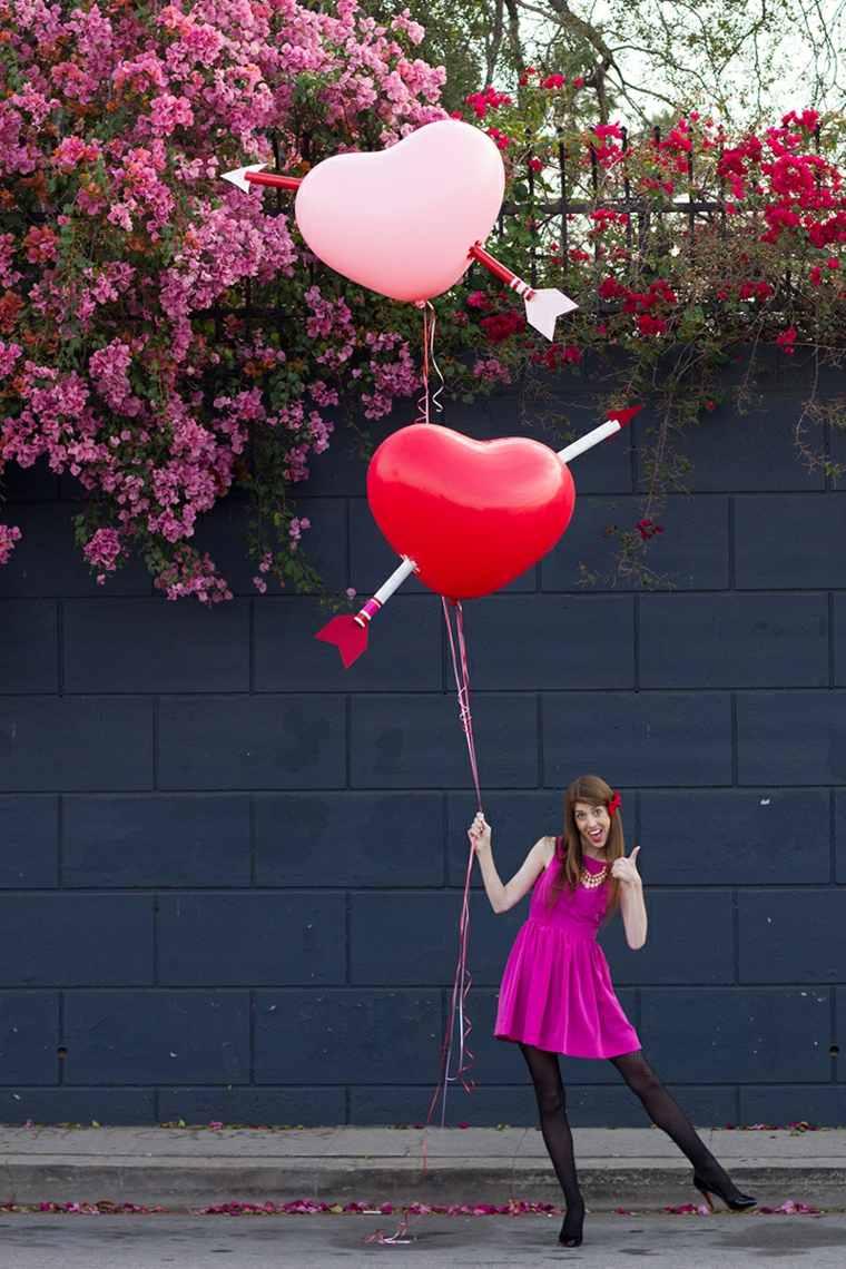 idée cadeau saint valentin ballon coeur flèche idée originale déco