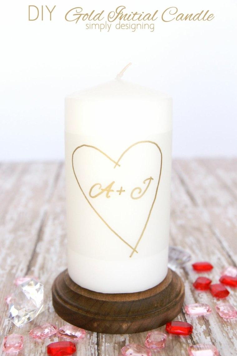 idée cadeau saint valentin bougie romantique bois coeur