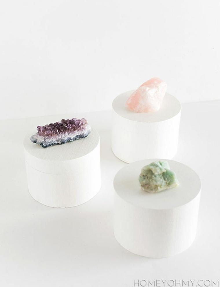 idée cadeau saint valentin boîtes bijoux cristal diy idée