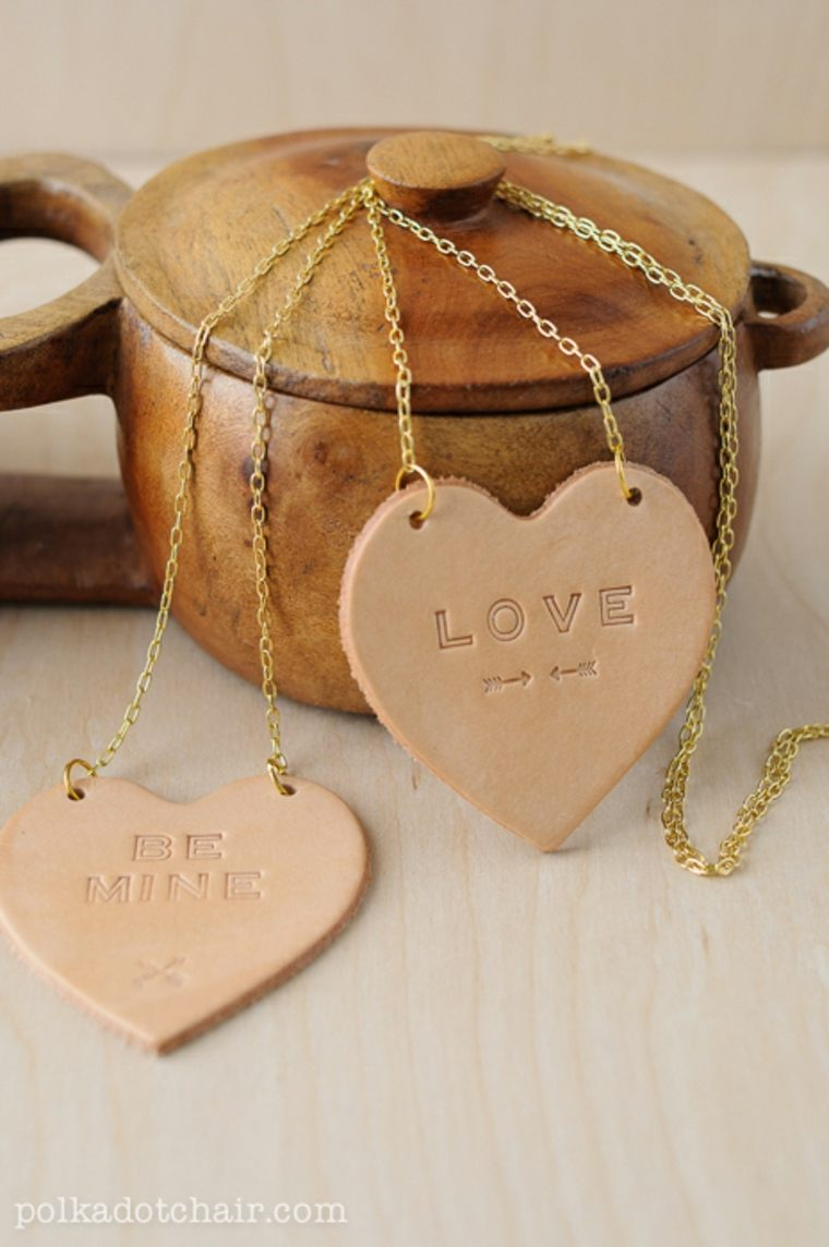 coeur diy cadeau saint valentin idée colier diy