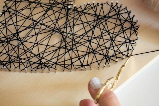 coupez le fil restant et faites un noeud
