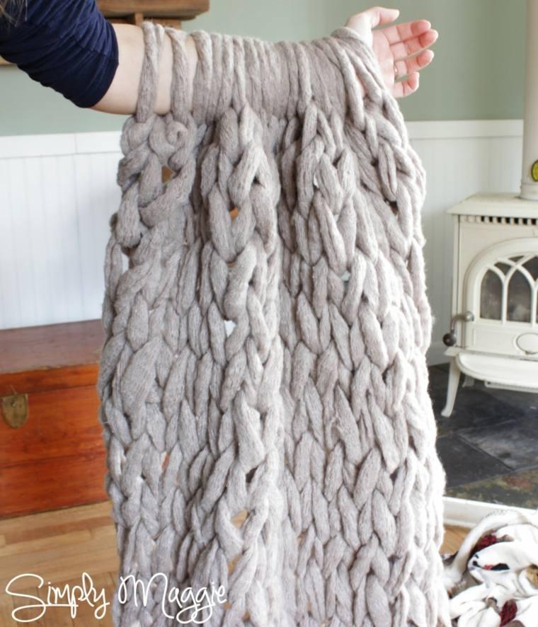 couverture écharpe diy idée tricotage cadeau saint valentin original