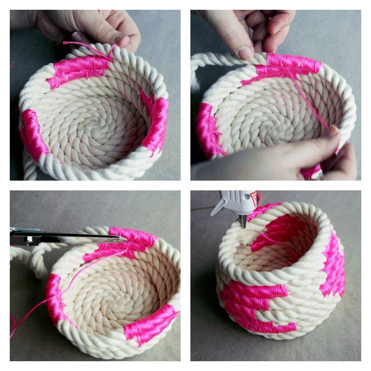 idee decoration maison facile corde bricolage vase