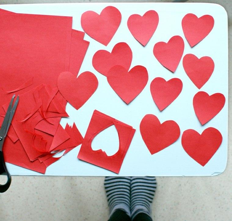 coeur papier saint valentin idée cadeau