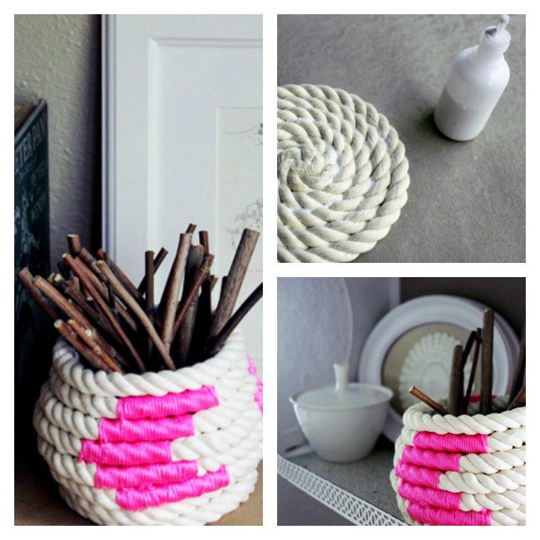 diy déco facile vase bricolage corde