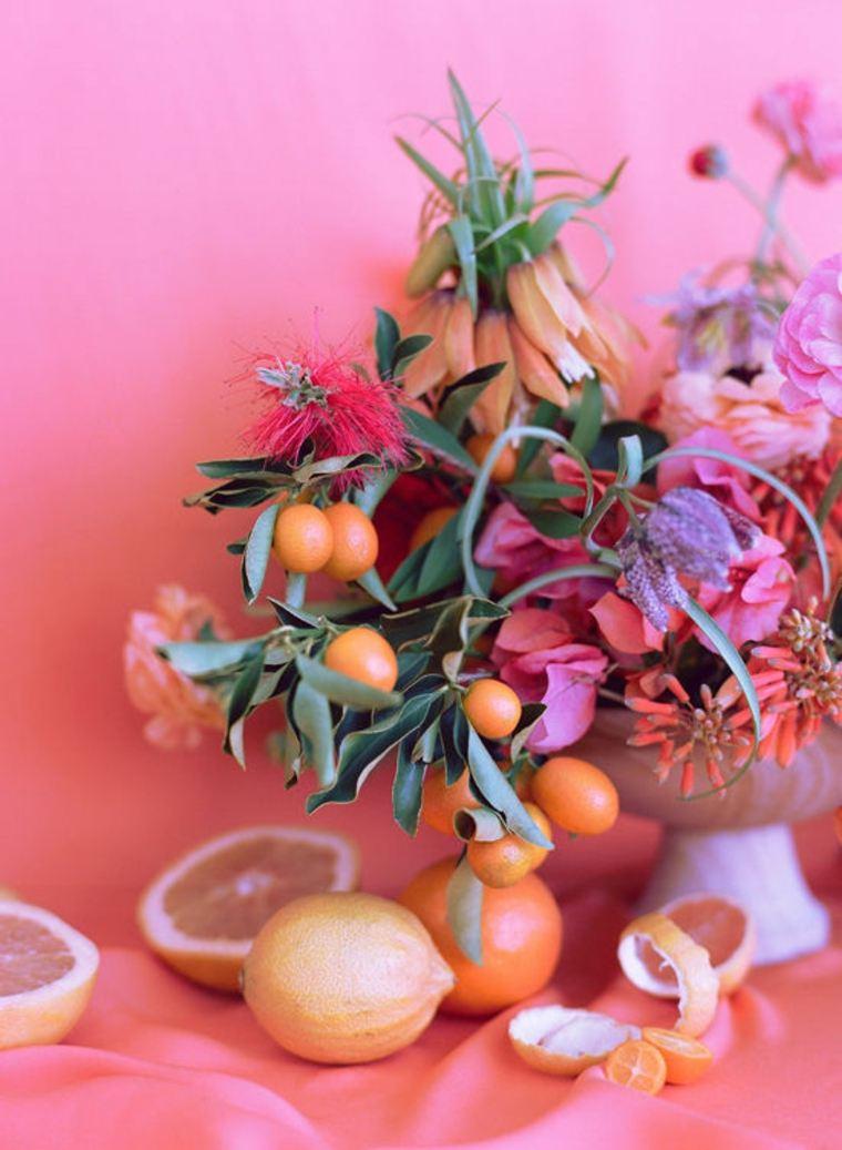 idée cadeau saint valentin bouquet fleurs orange clémentines