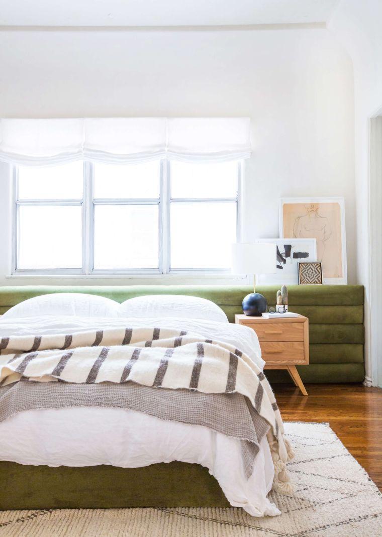 idée tête de lit DIY grand format modele