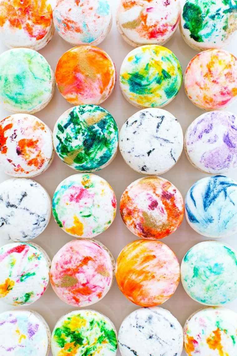 macarons marbre diy idée saint valentin cadeau original bricolage