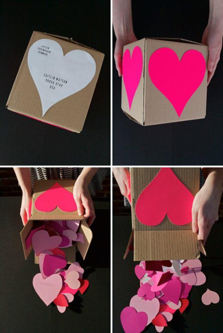 saint valentin boîte carton coeurs idée cadeau saint valentin original diy