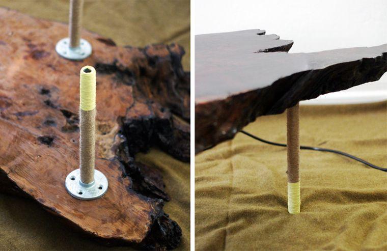 table basse corde deco originale