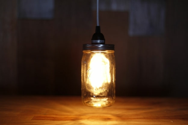 DIY déco lanterne faite à partir d'un bocal