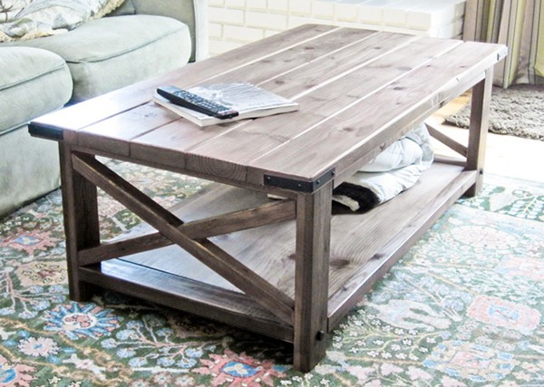 Table basse DIY simple en bois