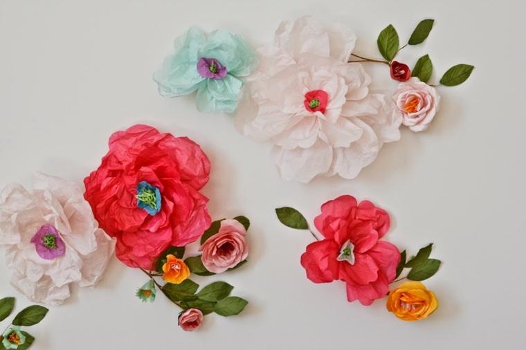 activité manuelle pour Pâques fleurs papier