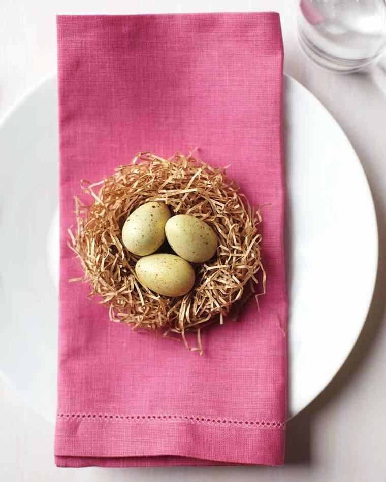 activité manuelle pour Pâques nid