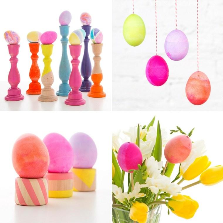 activité manuelle pour Pâques oeufs colores
