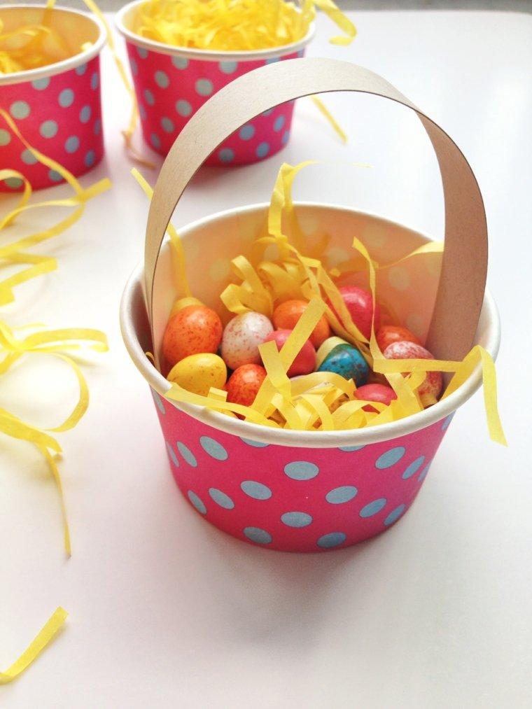 activité manuelle pour Pâques panier