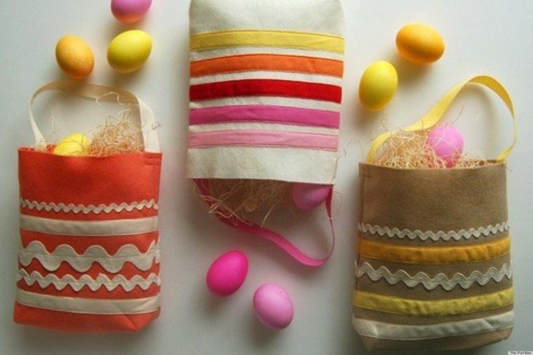 activité manuelle pour Pâques sacs