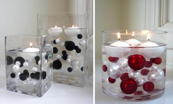 bougies flottantes boules decoration noël