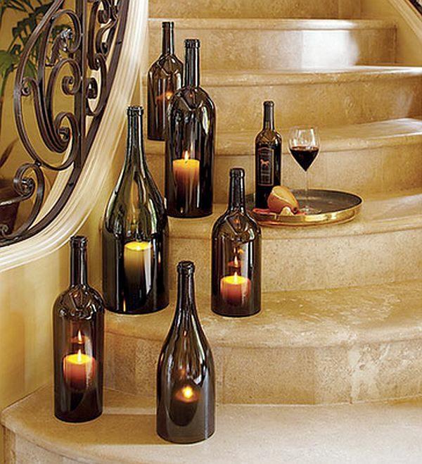 bouteilles vin avec bougies dedans Indulgy