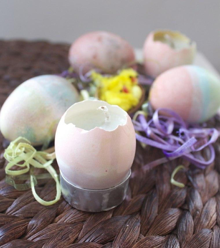 bricolage Pâques bougies oeufs