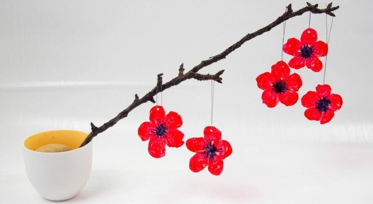 bricolage Pâques branche fleurs