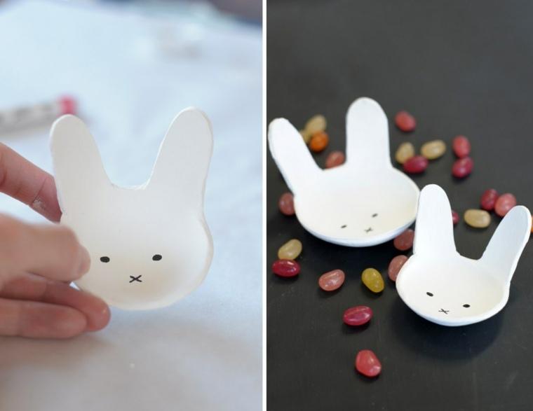 bricolage Pâques panier lapin