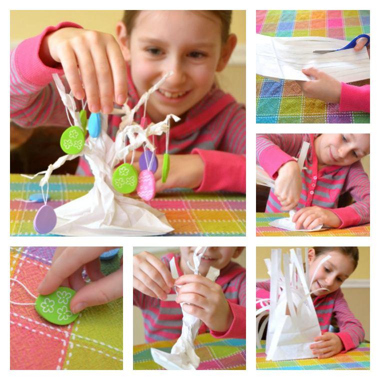 bricolage facile enfants paques arbre