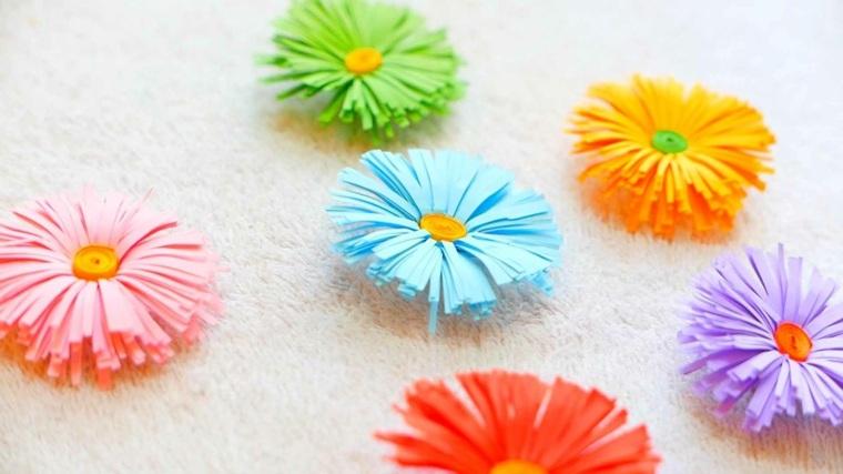 bricolage paques fleurs papier