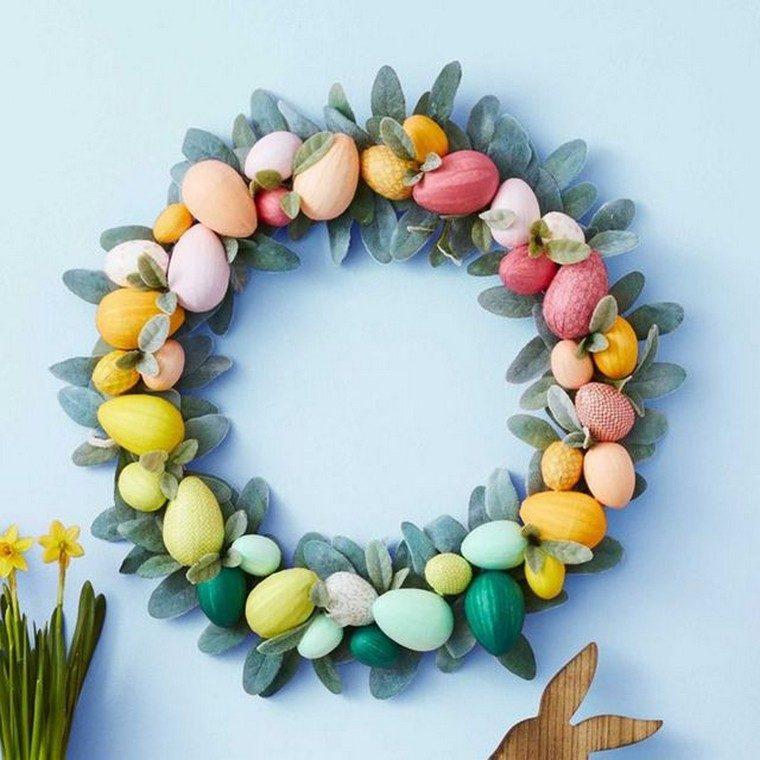 œufs de Pâques coloriage décoration couronne
