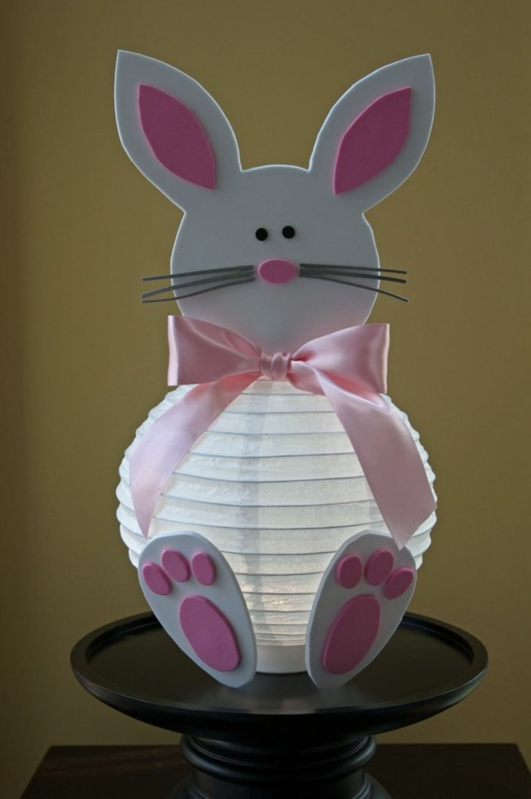 deco paques lapin lampe