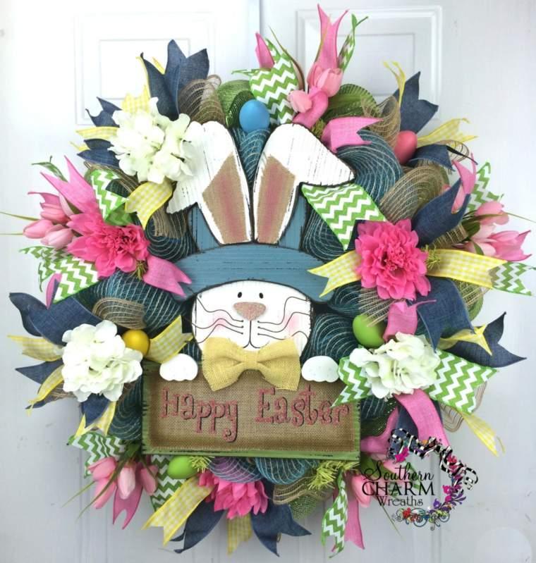 decoration paque couronne porte design