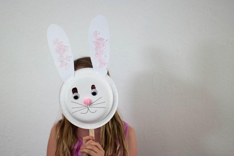 masque lapin carton diy idée