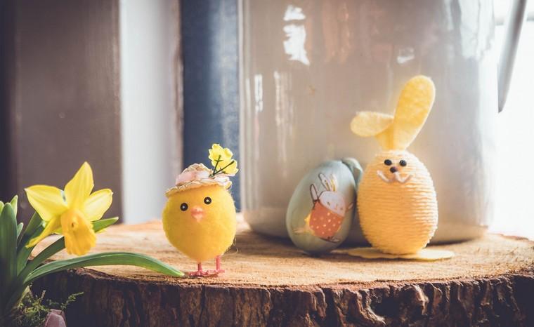 poussin et œuf lapin