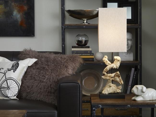 idées-de-déco-lampe-poser-bois-DIY-salon