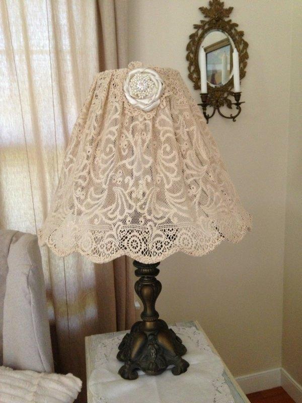 lampe originale dentelle