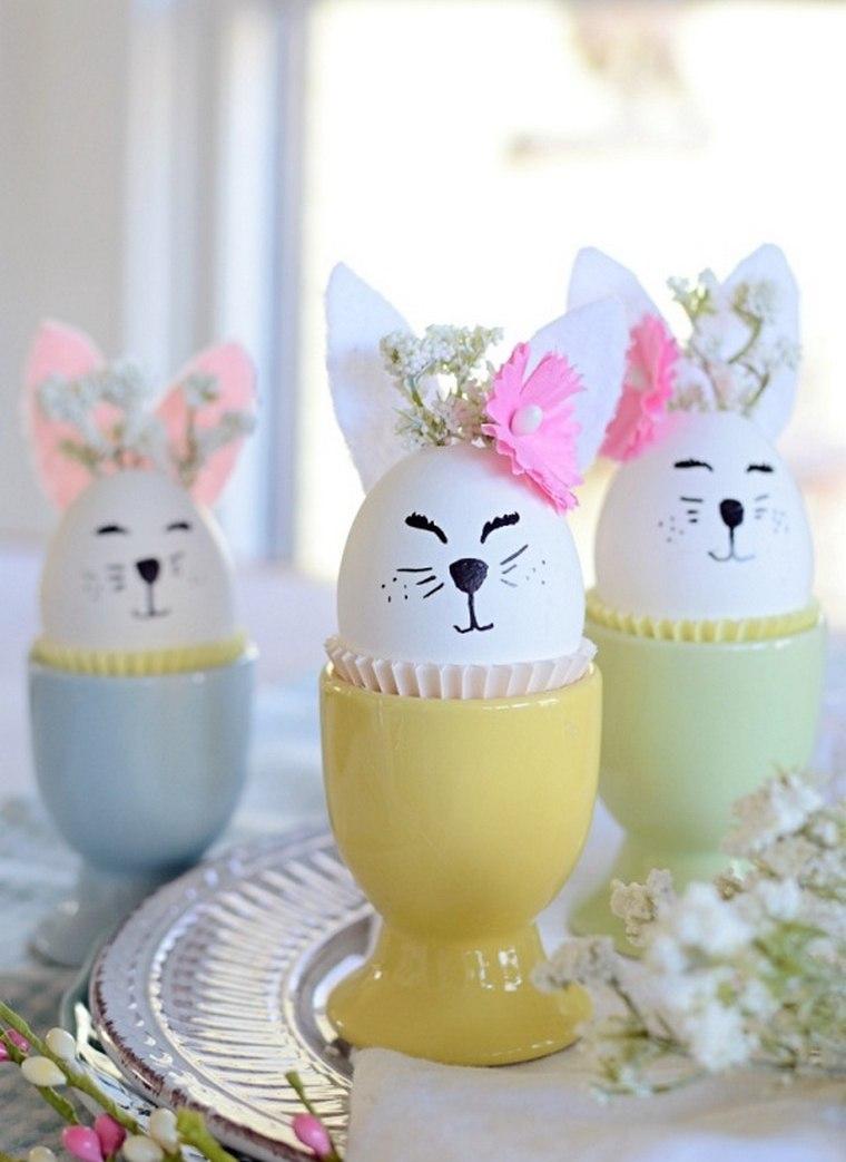 oeufs pour pâques coloriage lapin déco