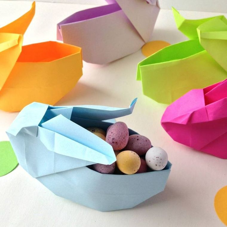 bricolage origami decoration paques facile oeufs