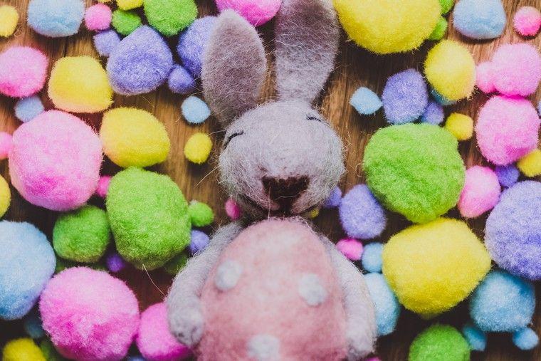 décoration pour pâques lapin mignon