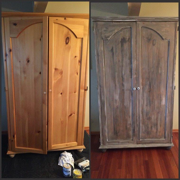 peinture faisant meuble avoir air vieilli