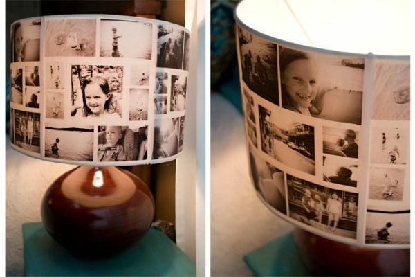 photos famille decoration abat jour