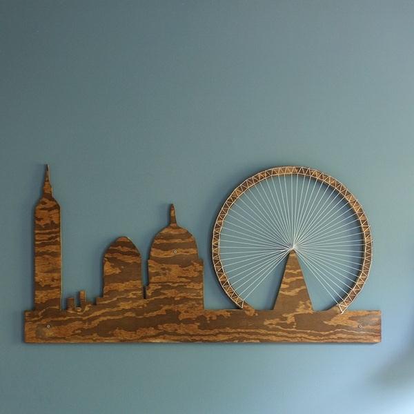 superbe déco murale bois et string art