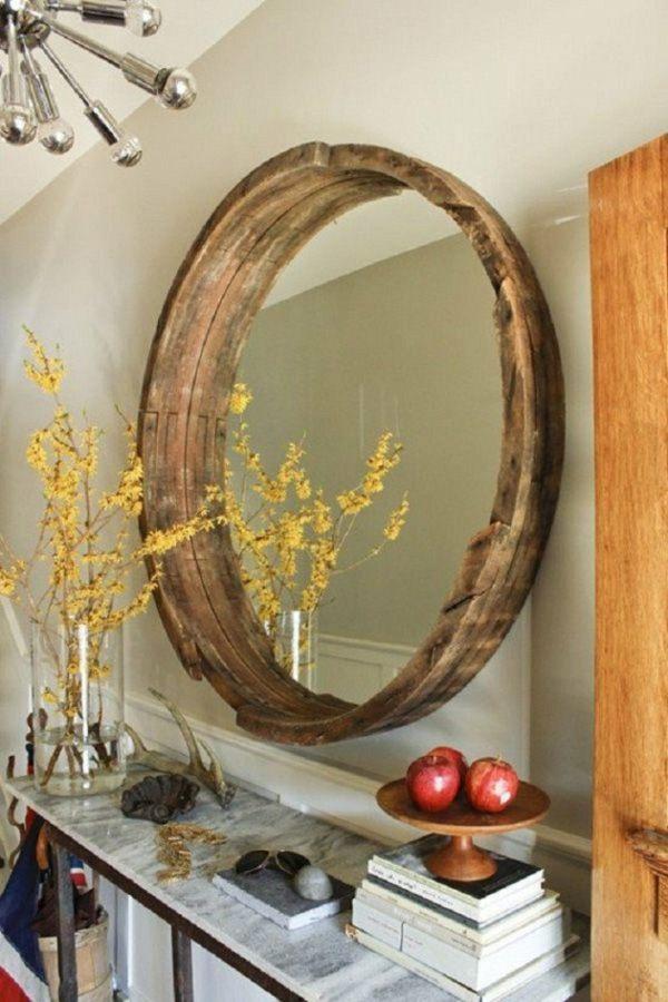 tonneau vin transforme en miroir diy