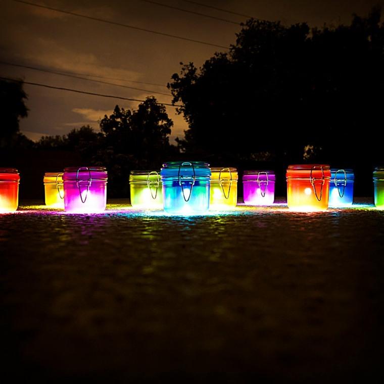 bocaux de conserve mini lampes