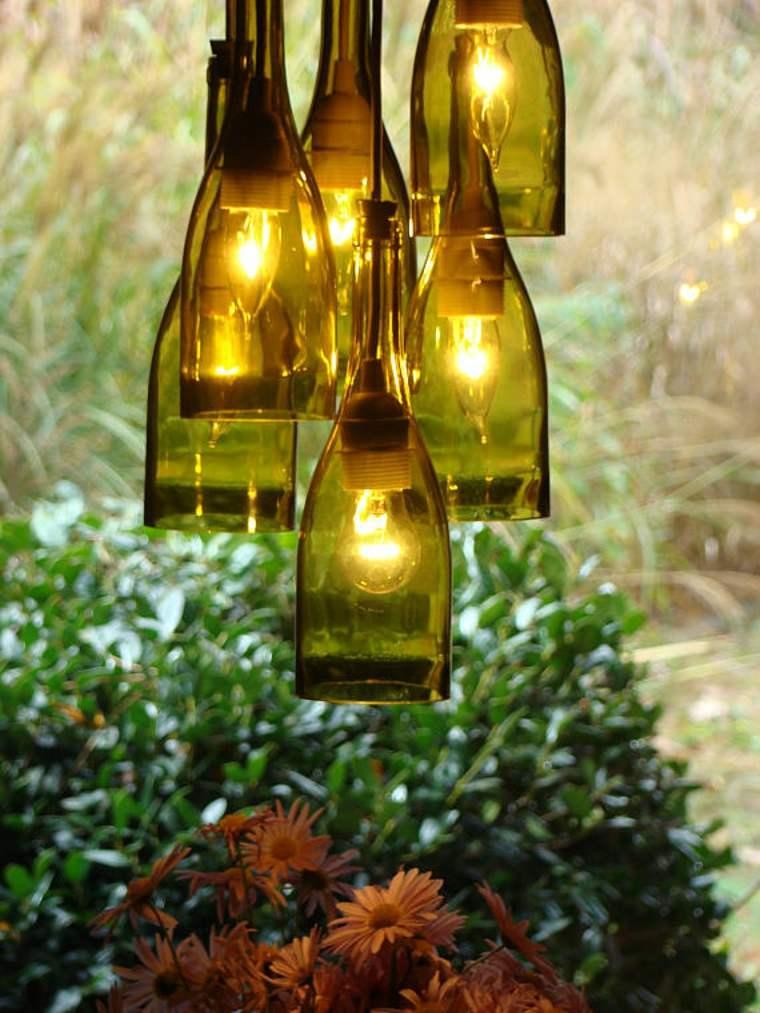 bouteilles de verre lampes