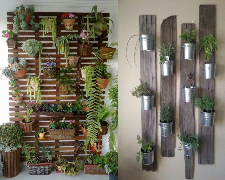 déco jardin récup plantes murales