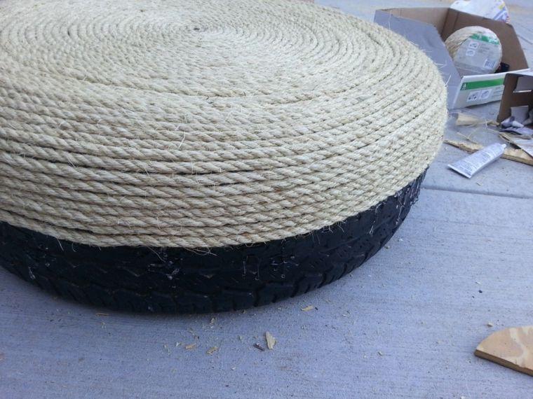 fabriquer-un-pouf-cordage-pneu-facile