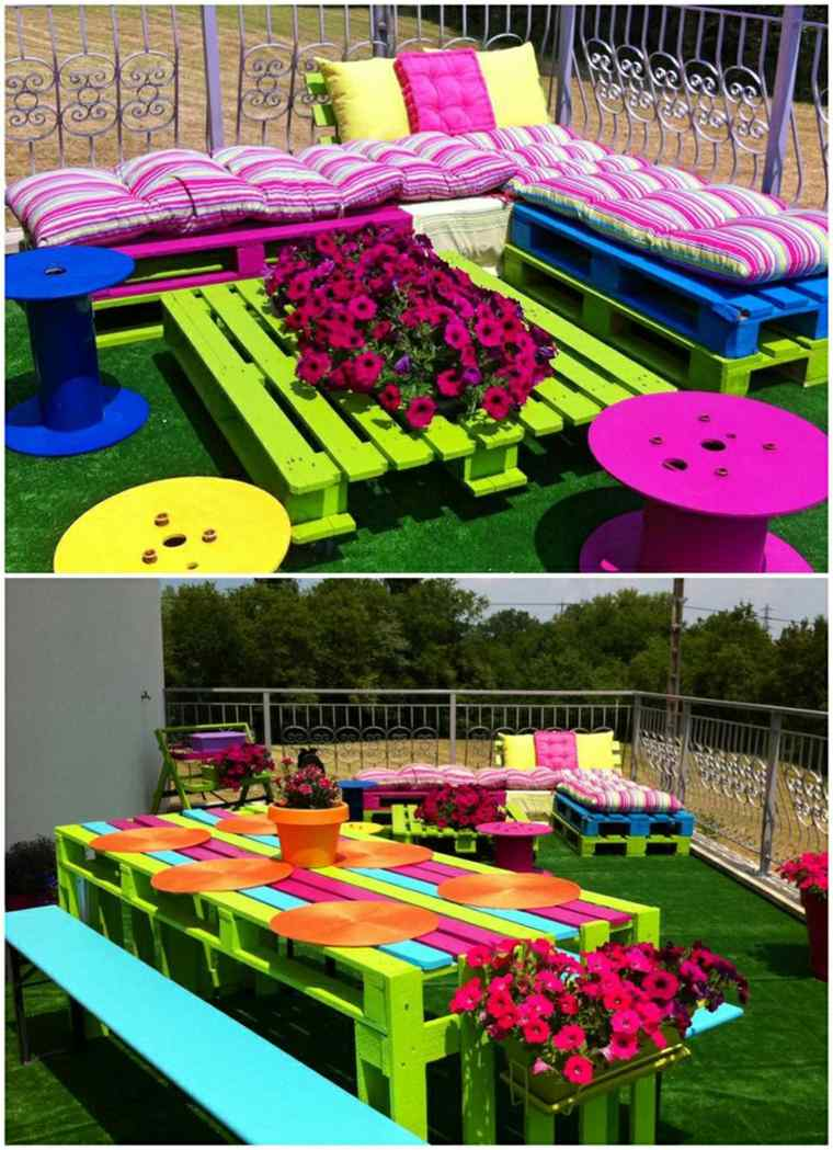 mobilier de jardin palette