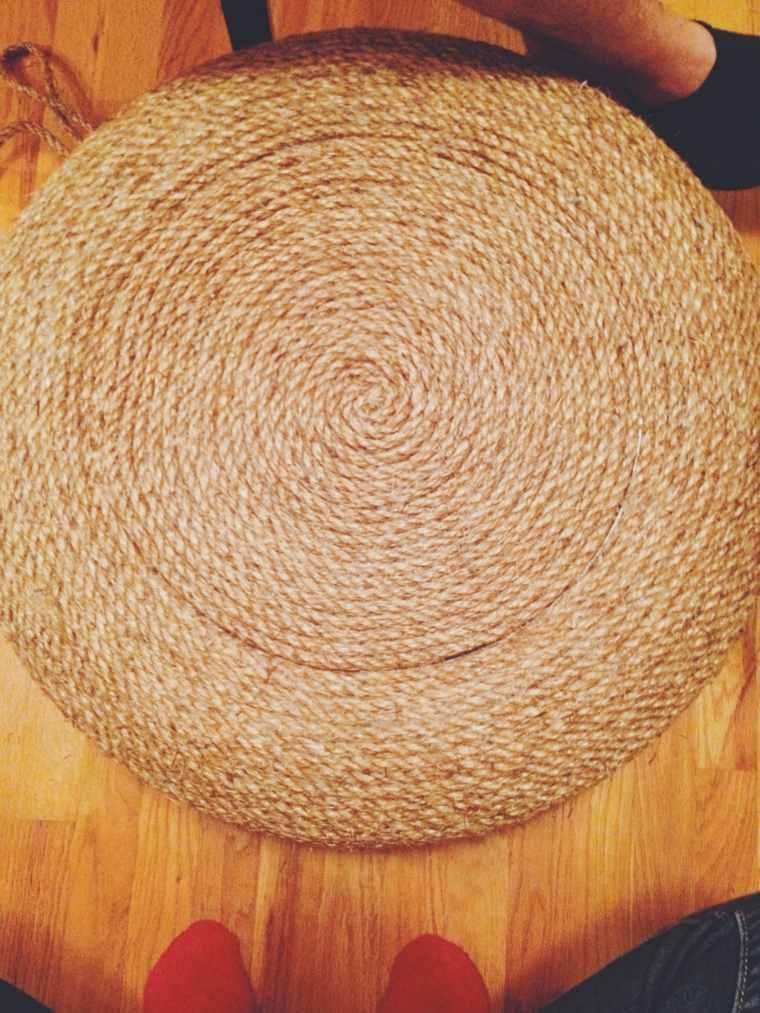 pouf pneu idée fabriquer table basse pouf diy corde original