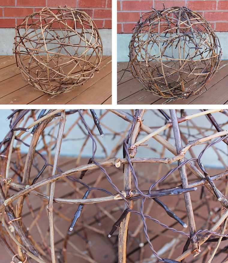 branchettes de bois suspension